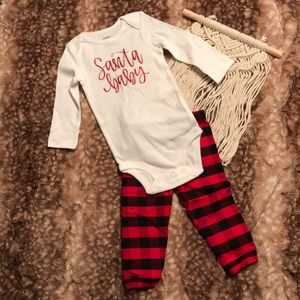Two piece Santa baby outfit